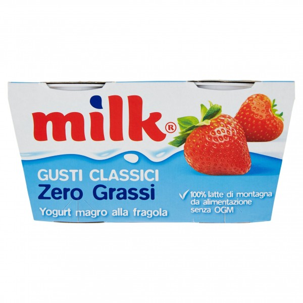 MILK YOGURT FRAGOLA ZERO 125X2