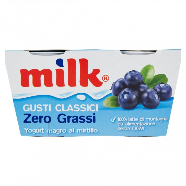 MILK YOGURT MIRTILLO ZERO 125X2