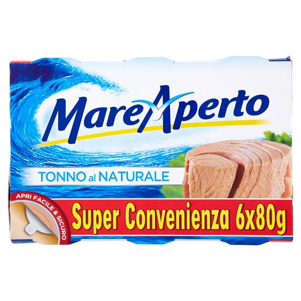 MARE APERTO TONNO NATURALE 6 PER 80 GR