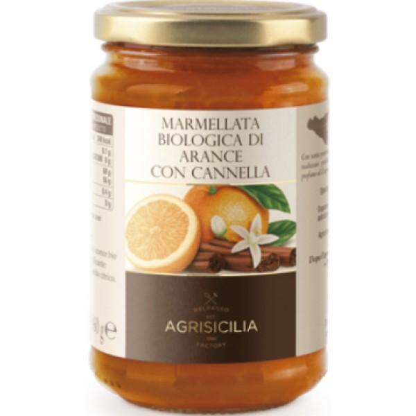AGRISICILIA MARMELLATA ARANCE E CANNELLA 360 GR