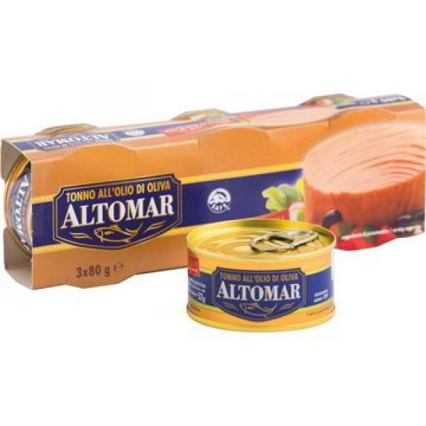 ALTOMAR TONNO OLIO OLIVA GR 80 PER 3