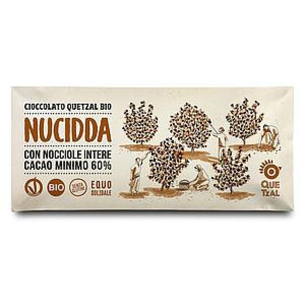 NUCIDDA - CIOCCOLATA CON NOCCIOLE INTERE 60% CACAO BIO