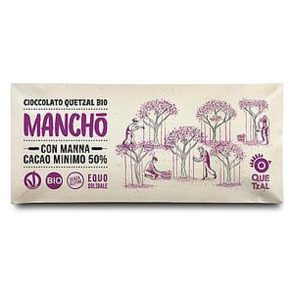MANCHO' - CIOCCOLATA CON MANNA 50% CACAO BIO