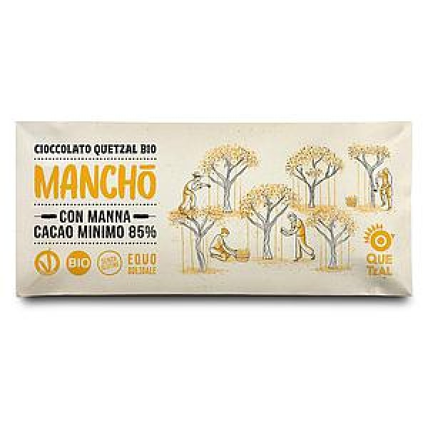 MANCHO' - CIOCCOLATA CON MANNA 85% CACAO BIO