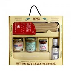 TESTA CONSERVE - KIT PASTA TARATATA' (spaghettoni, salsa di buzzonaglia, olio evo, mollica atturrata, peperoncino rosso)