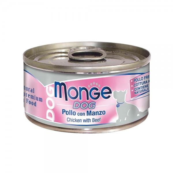 MONGE DOG NAT.POLLO/MANZO 95 GR