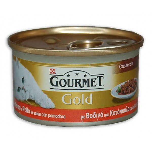 GOURMET GOLD MANZO/POLLO GR 85