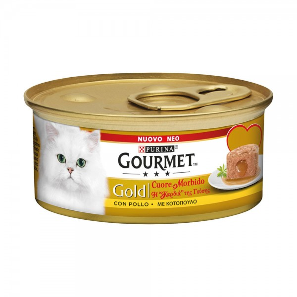 GOURMET GOLD CUORE POLLO GR85