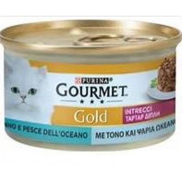 GOURMET GOLD INTRECCI TONNO/PESCE.OCE.85 GR