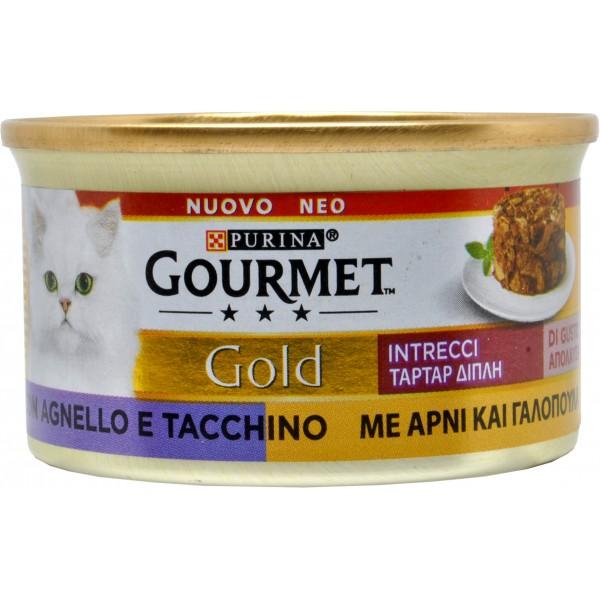 GOURMET GOLD INTRECCI TACCHINO/AGNELLO 85 GR